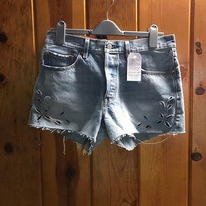 Levi's cutoff shorts